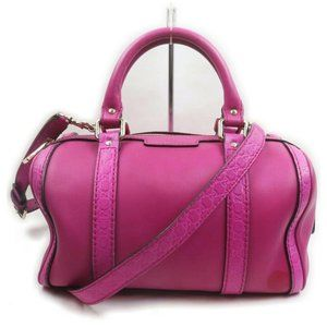 Gucci Hot Pink Fuchsia Leather Joy Boston Bag with